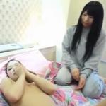 全裸ギャルと友達の女の子