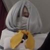 マスクのコスプレ少女